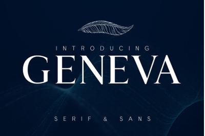 GENEVA - A family of 8 fonts