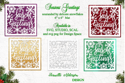 Christmas 6x6 inch Seasons Greetings topper and mat