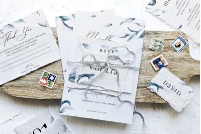 Elegant Blue Sprigs Wedding Suite