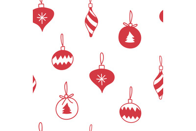 Christmas tree baublesseamless repeatingpattern