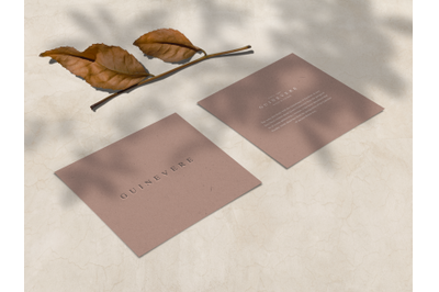 Embossed Square Cards Mockup Pt. 2