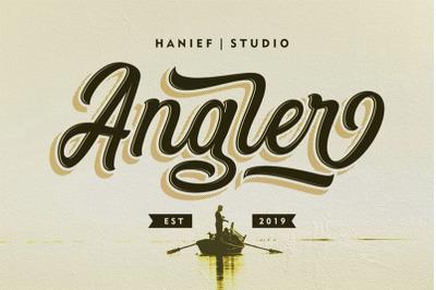 Angler//Modern Script Font