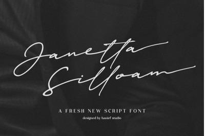 Janetta Silloam//Signature Font