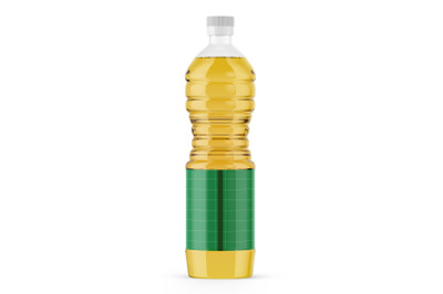 Plastic Sunflower Oil Bottle Mockup