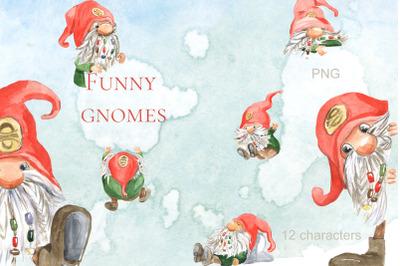 Funny gnomes.