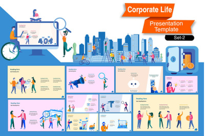 Corporate Life Keynote Template Set2