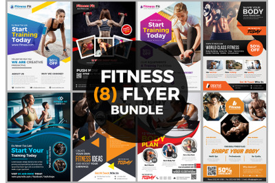 Fitness Flyer Bundle Print Templates