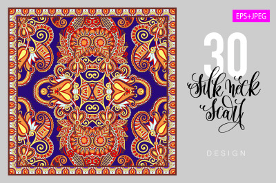 30 authentic silk neck scarf design
