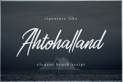 Ahtohalland elegant signature script