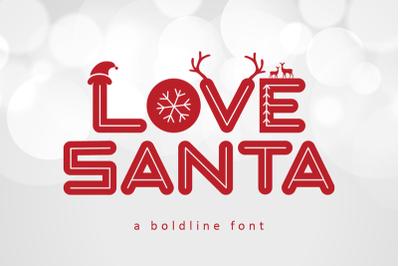 Love Santa - Christmas Font