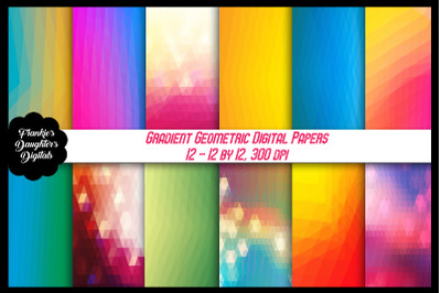 Gradient Geometric Digital Papers