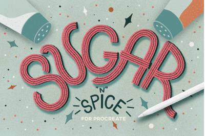Sugar & Spice Procreate Brushes