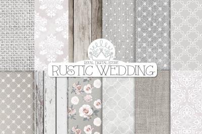 RUSTIC WEDDING digital paper