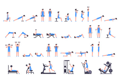 Man gym set