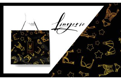 Lingerie. Emblem + texture