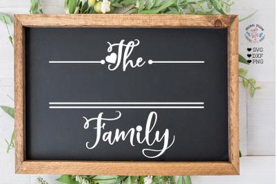 Customizable Family Last Name Cut File