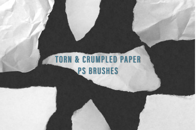 Torn and Crumpled Paper PS Brushes