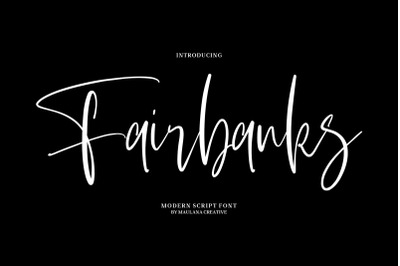 Fairbanks - Modern Script Font