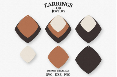 Earring Svg, Stacked Earrings, Cut File