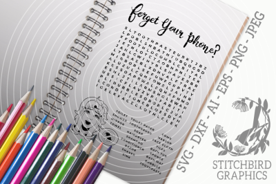 Forget your Phone SVG, Printable, Instant Download, Commercial Use SVG