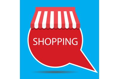 Label badge shopping vector