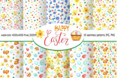 Watercolor Happy Easter