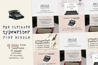 70% OFF! The Ultimate Typewriter Font Bundle