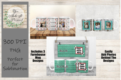 Full Wrap Sublimation Mug Designs