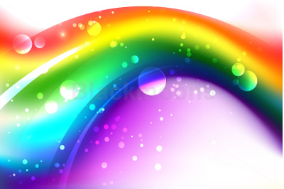 Background with Abstract Rainbow