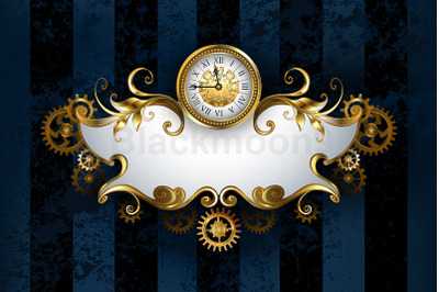 Patterned Banner with Antique Watches