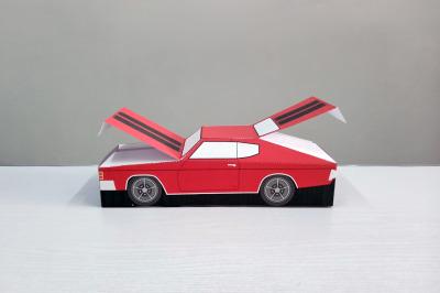 DIY Chevelle Car favor - 3d papercraft