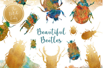 Scarabs & Beetles Clipart Set