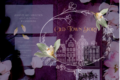 Old Town Story - Hand drawn Decorative Illustrations
