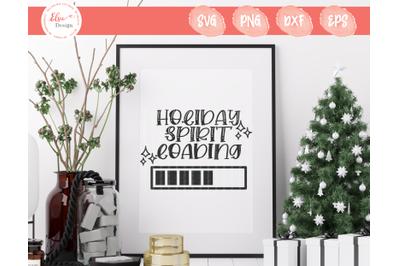 Holiday Spirit Loading SVG