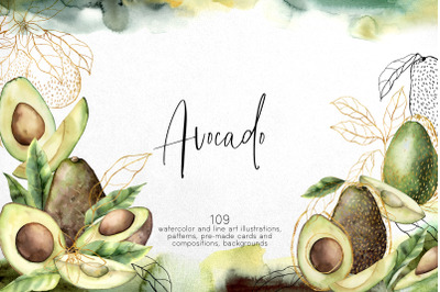Avocado. Graphic collection