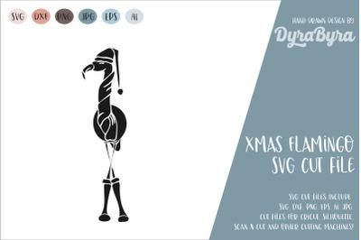 Merry Christmas SVG / Flamingo SVG