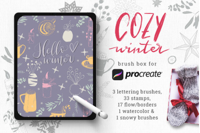 Winter Brush Box for Procreate
