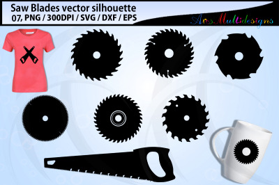 Saw blades svg silhouette / saw blade vector