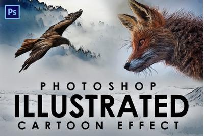 Cartoon Illustration effect