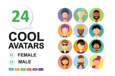 Avatar Icons People collection