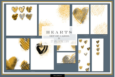 Hearts. Set of 10 cards #1