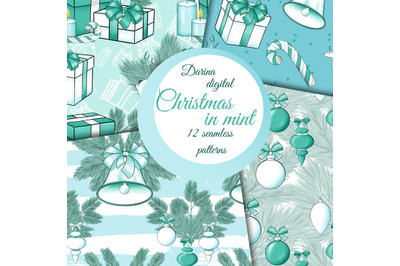 Christmas in mint patterns