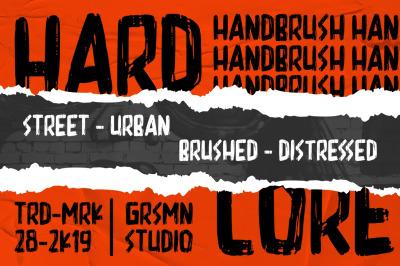 Hardcore - Display Font