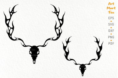 Deer head in gothic style