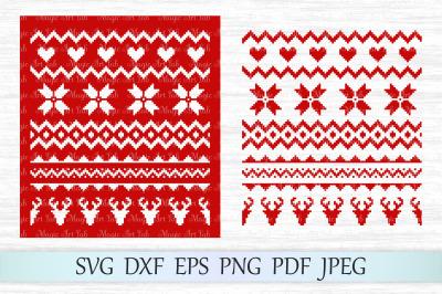 Sweater pattern svg, Christmas pattern svg, Christmas sweater svg