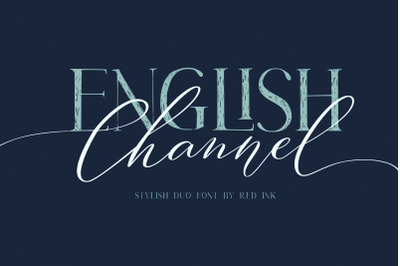 English Channel. Stylish Duo Font