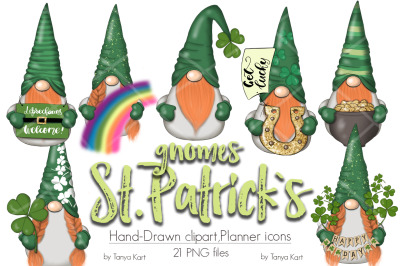 St. Patricks Gnomes Icons & Pattern