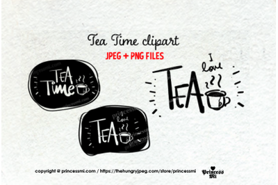 Tea Time clipart set