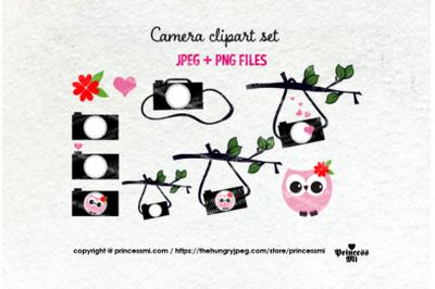 Cute camera clipart set 6 , owl