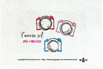 doodle camera clipart set 5